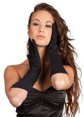 Elbow Length Gloves (Black)