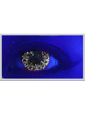 Saf Black Glitter UV Contact Lenses - 3 Month Wear