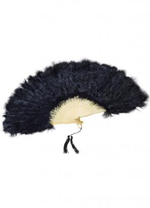 Black Feather Fan