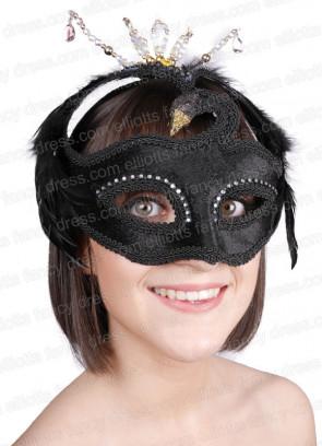 Elegant Black Swan Eye Mask