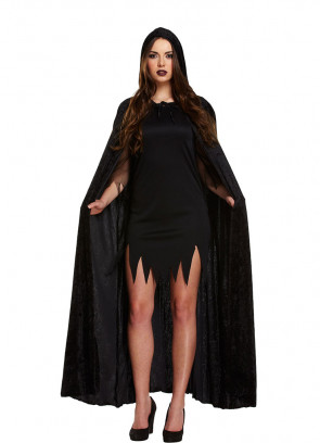Black Velvet Devil (Hooded) Cape