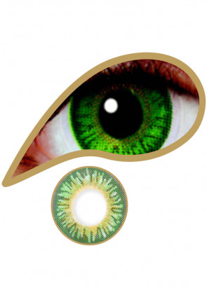 Emerald Green Coloured Contact Lenses - 3 Month Wear