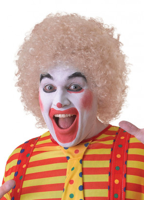 Blonde Clown Afro Pop Wig