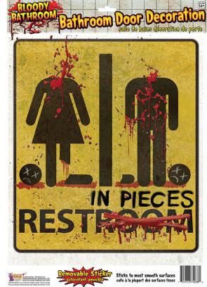 Bloody Bathroom Door Decoration