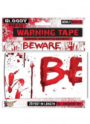 Bloody Mess 'Beware' Warning Tape (20ft)