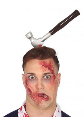 Bloody Hammer through Head 35cm