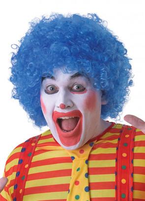 Blue Clown Afro Pop Wig