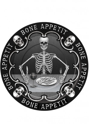 Bone Appetit Small Paper Plate (8 Pack)