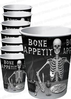 Bone Appetit Paper Cups - 8pk 25cl