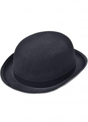 Bowler Hat (Black Felt)