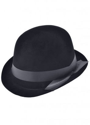 Bowler Hat Black Flocked