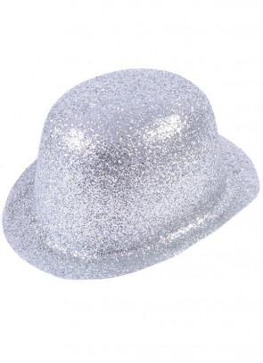 Silver Glitter Plastic Bowler