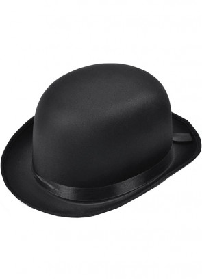 Bowler Hat Black - Satin