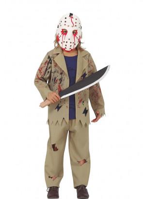 Boys Hockey Mask Killer Costume