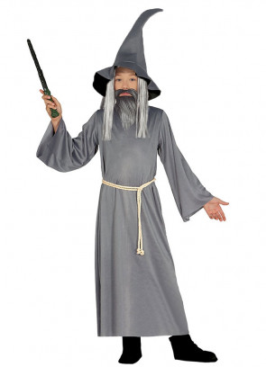 Boys Grey Mythical Rings Wizard Costume
