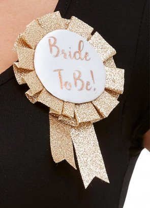 Bride To Be Rosette - Rose Gold