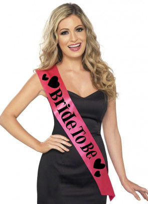 Sash Pink & Black (Bride To Be) Hen Party