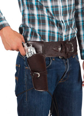 Brown Cowboy Gun & Holster