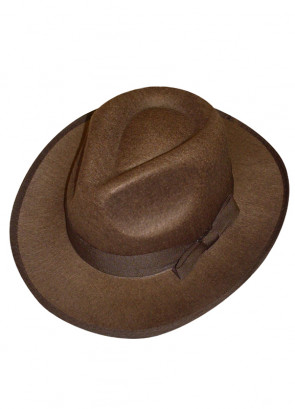 Brown Gangster Hat - Fright / Indiana