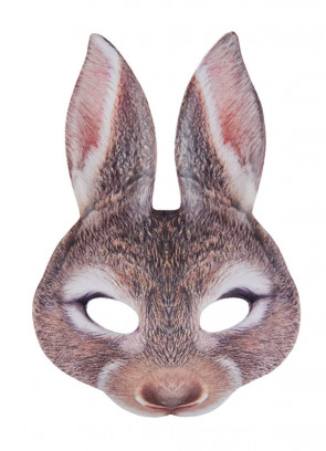 Brown Rabbit Mask