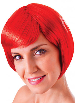 Flirty Flick Red Wig