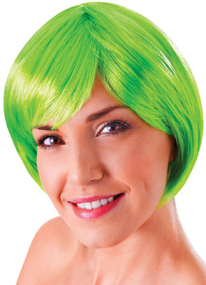 Flirty Flick Neon Green Wig