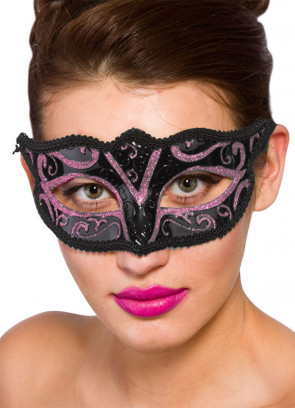 Calypso Eye Mask - Black & Pink