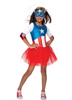 American Dream (Captain America) (Girls) Costume