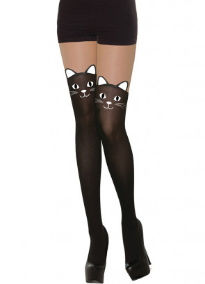 Cat Tights - Fake Stockings - Dress Size 6-14
