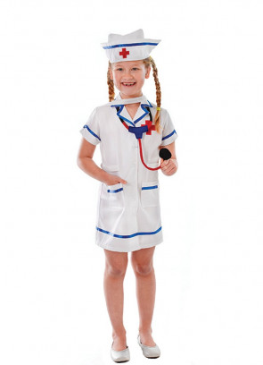 Nurse Costume with Stethoscope