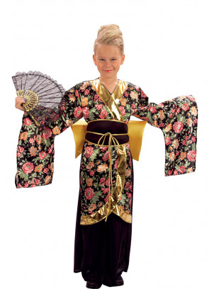 Geisha (Black)  (Girls) Costume