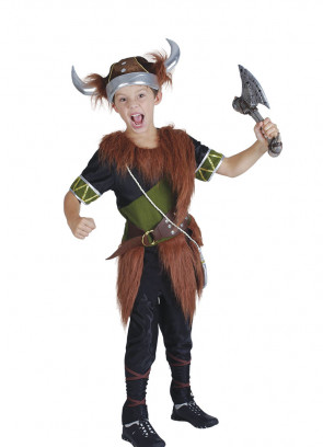 Viking Boy (Green) Costume