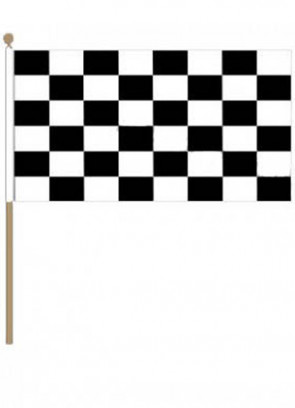 "Checkered Hand Flag 18"" x 12"""