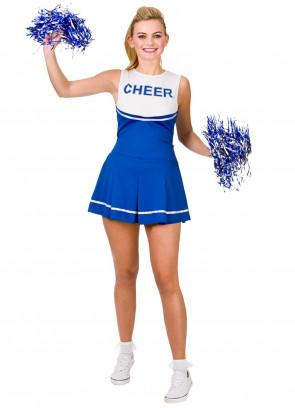 High School Cheerleader (Blue)