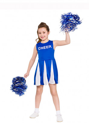 Cheerleader Girls Costume (Blue)