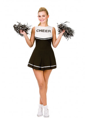 High School Cheerleader (Black & White) Costume