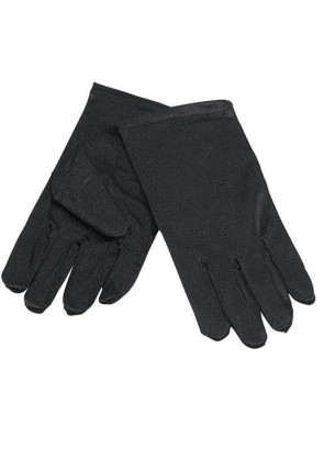 Gloves (Kids Black Satin)
