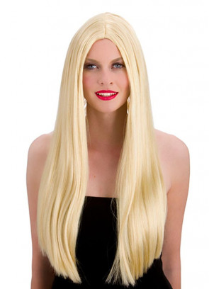 """Classic Long 24"""" Blonde Wig"""