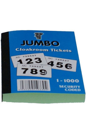 Cloakroom Tickets: 1-1000