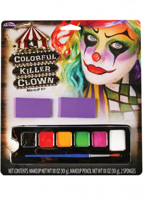 Colourful Killer Clown Make-up Palette