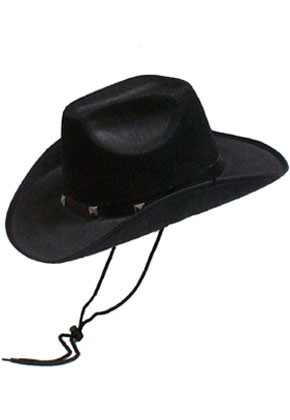 Cowboy Hat Black Studded