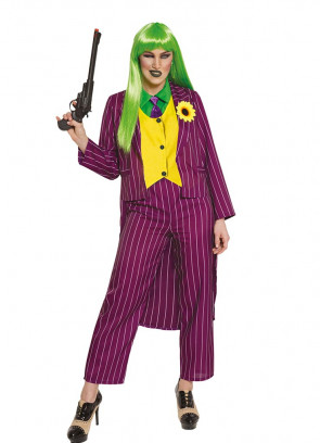 Ladies Stripey Jokester Costume