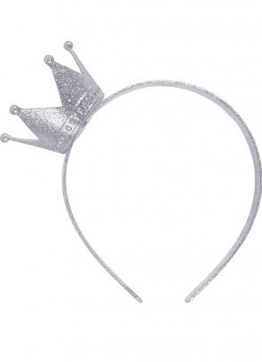 Crown Headband (Silver Glitter)