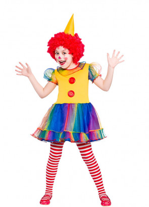 Cute Little Clown (Girls) Costume
