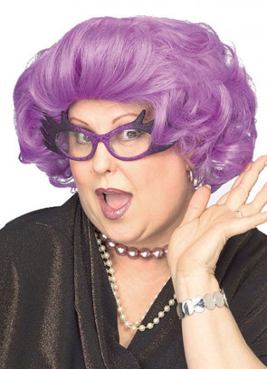 Dame (Edna Everage, Purple Rinse) Wig