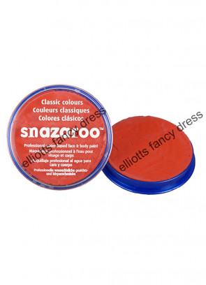 Snazaroo Dark Orange Face Paint 18ml