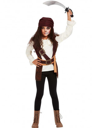 Dark Spirit Pirate Costume Girls