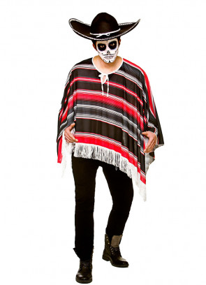 Mexican Poncho - Day of the Dead