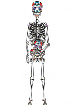 """60"""" Day of the Dead Skeleton Cut Out"""