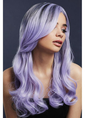 Deluxe Khloe Long Wavy Wig - Lilac - Styleable